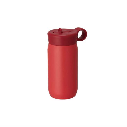 czerwony bidon termiczny dla dzieci play tumbler kinto z uchwytem i słomką