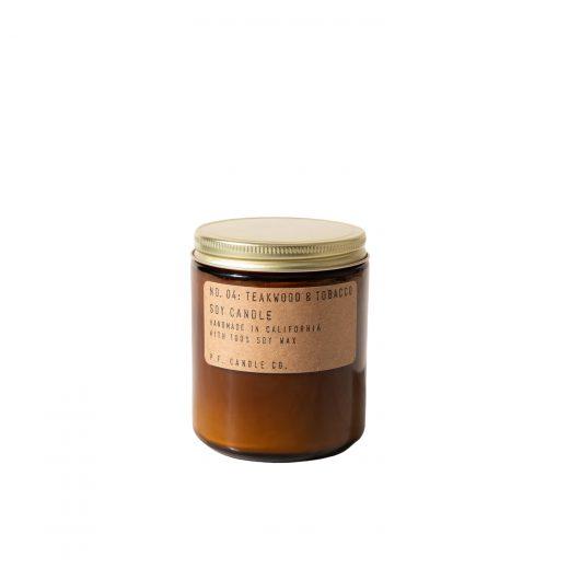 mała świeca sojowa teakwood and tobacco