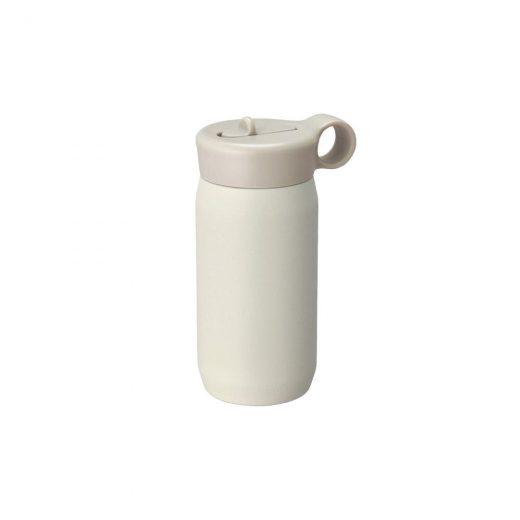 biały bidon termiczny play tumbler kinto z uchwytem i słomką