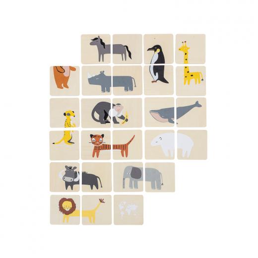 drewniana gra memory zwierzęta