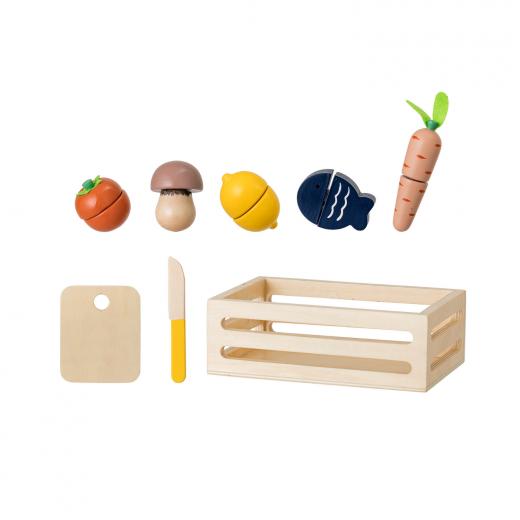 zabawka drewniana jedzenie do krojenia