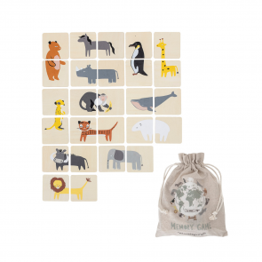 drewniana gra memory zwierzęta bloomingville zabawka dla dzieci