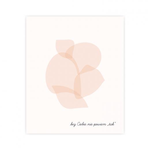 """kartka okolicznościowa od panny młodej dla druhny z napisem """"bez Ciebie nie powiem tak"""""""