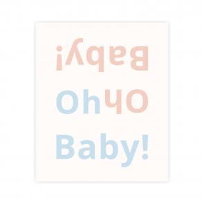 kartka okolicznościowa z napisem oh baby