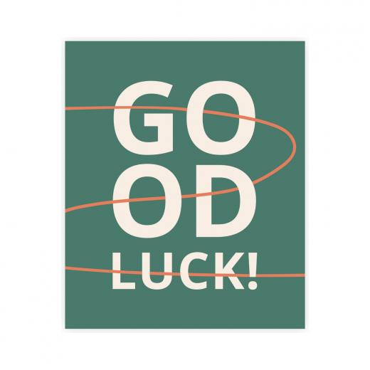 kartka okolicznościowa z napisem good luck