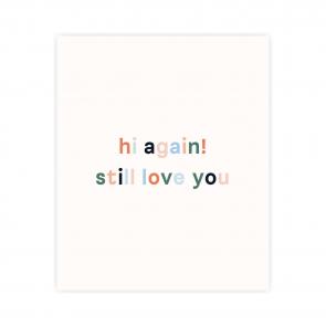 kartka okolicznościowa z napisem still love you