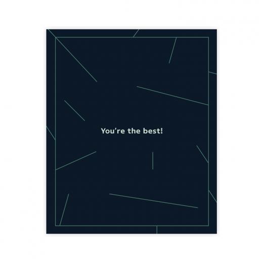 Kartka okolicznościowa z napisem you're the best