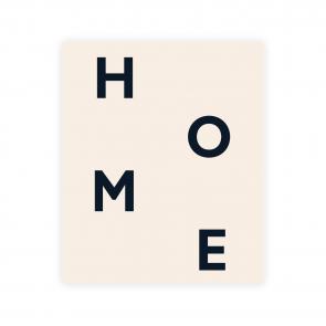 Kartka okolicznościowa z napisem home