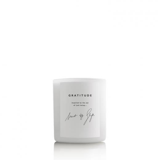 świeca sojowa zapachowa w szklanym opakowaniu gratitude