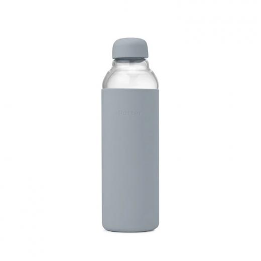 szklana butelka na wodę z silikonową nakładką